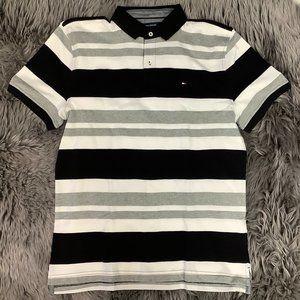 Tommy Hilfiger   Men's Collared T-Shirt   Stripes